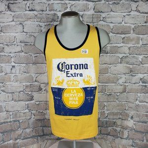Corona Extra Muscle Tee Yellow Large Mexico Beer